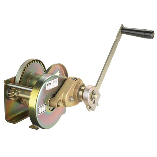 Thern Spur Gear Hand Winch w/ Brake - 2000 lbs Lifting Capacity - #M4312PB