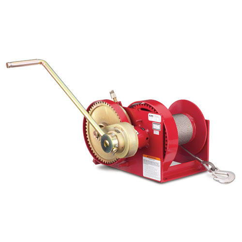 Thern Spur Gear Hand Winch w/ Brake - 4000 lbs Lifting Capacity - #M452B