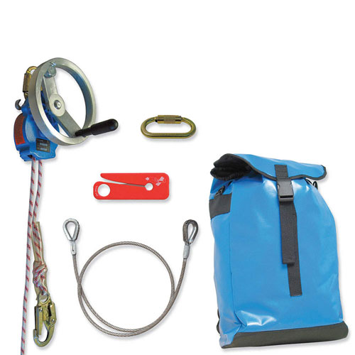 Tractel 200 ft Derope Up A Rescue / Descent Device Kit