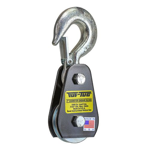 "Tuf-Tug 2"" Snatch Block w/ Hook - 1/2 Ton WLL"
