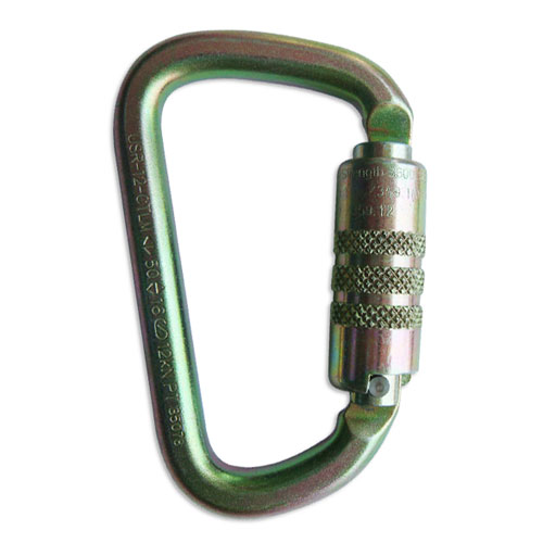 "USR ProClimb Modified ""D"" Steel Carabiner - Double-Locking"