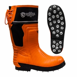 Viking Orange Rubber Calk Chainsaw Boots