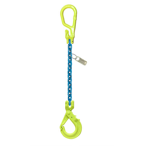 "1/2"" x 20 ft Type MG-GBK GrabiQ Adjustable Single Leg Grade 100 Chain Sling - 15000 lbs WLL"
