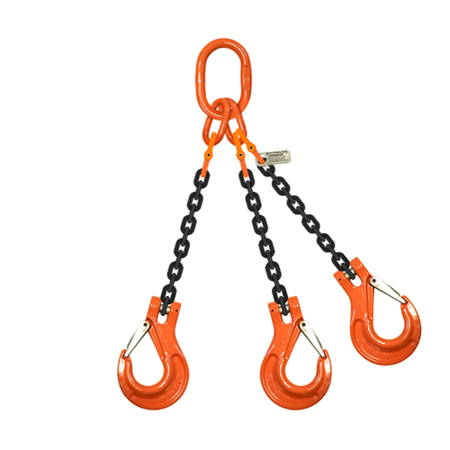 "9/32"" (1/4"") x 5 ft Type TOS 3-Leg Grade 100 Chain Sling - 11200 lbs WLL"