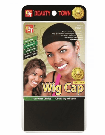 Beauty Town Stocking Wig Cap 2 Pieces (Black) #02261