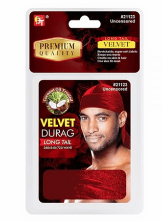 Beauty Town Velvet Durag Long Tail Uncensored #21123