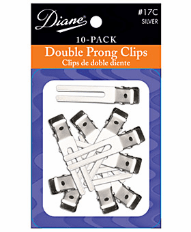Diane Double Prong Clips 10 Pack D17C