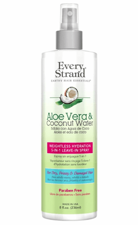 Every Strand Aloe Vera & Coconut Water Weightless Hydration 5-In-1 Leave-In Spray 8 oz