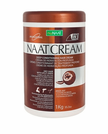 NuNAAT Naan Cream Deep Conditioning Hair Cream 1 Kg 35.2 oz