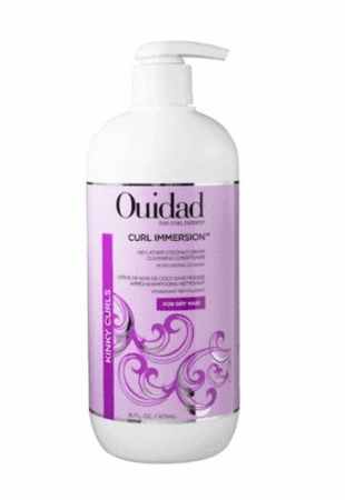 Ouidad Curl Immersion No-Lather Coconut Cream Cleansing Conditioner 16 oz