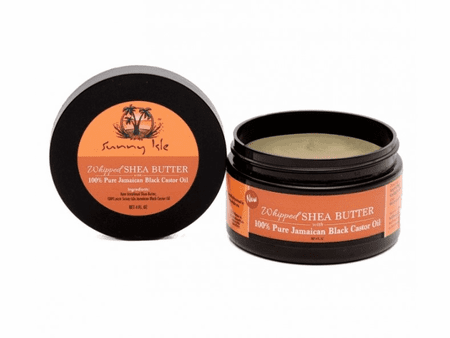 Sunny Isle Whipped Shea Butter infused with 100% Pure Jamaican Black Castor Oil 4 oz