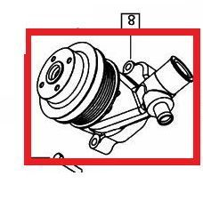 WATER PUMP FOR 1635 MAHINDRA TRACTOR (006032713H91)