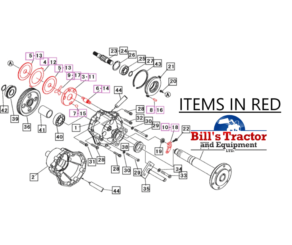 BRAKES LH ASSEMBLY FOR MAHINDRA TRACTOR