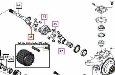 CLIP JOINT FOR A mPOWER8560 MAHINDRA TRACTOR (006506202C1)