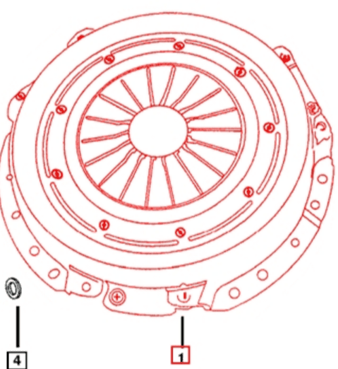 CLUTCH COVER FOR C-27 MAHINDRA TRACTOR