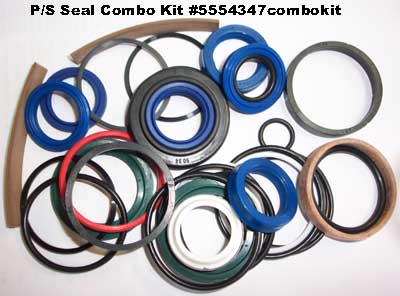 COMPLETE SEAL KIT FOR ORIGINAL POWER STEERING CYLINDER ON 3505 MAHINDRA TRACTOR (005554347COMBOKIT)