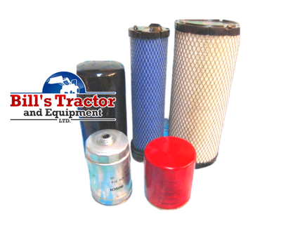 DISCOUNT SERVICE FILTER PACK FOR 2 & 4 WHEEL DRIVE 4025 MAHINDRA TRACTOR (006017310B1, 006006648D1, 006000455F1, 006000456F1, 000013427P04)