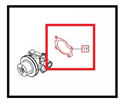 GASKET FOR WATER PUMP ON 2538 MAHINDRA TRACTOR