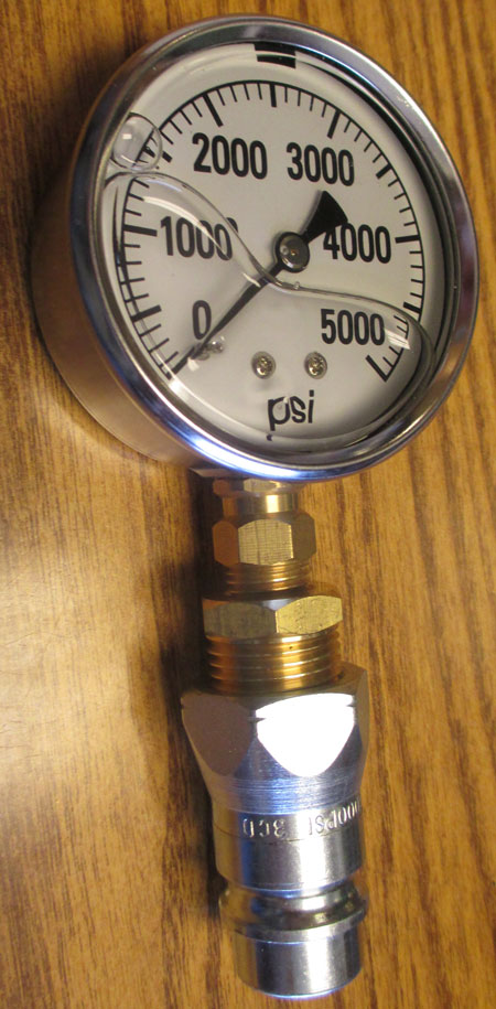 HYDRAULIC PRESSURE GAUGE FOR CHECKING PRESSURE ON MAHINDRA TRACTORS AND OTHER BRANDS