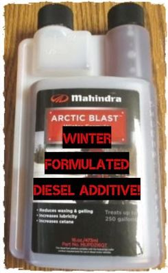 """MAHINDRA """"ARCTIC BLAST"""" FUEL ADDITIVE FOR ANY DIESEL ENGINE! (MUPD216QT)  ****ORDER TODAY!****"""
