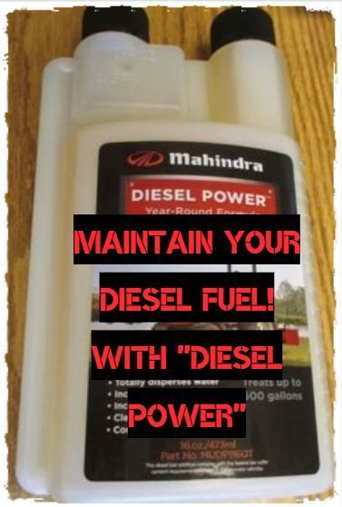 MAHINDRA DIESEL POWER FUEL ADDITIVE FOR ANY DIESEL ENGINE! (MUDP116QT) ****ORDER TODAY!****