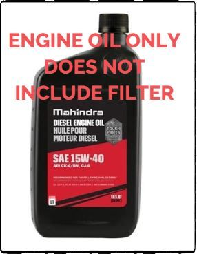 MAHINDRA ENGINE OIL CHANGE FOR 1815 MAHINDRA TRACTOR (1540QT-Q4)