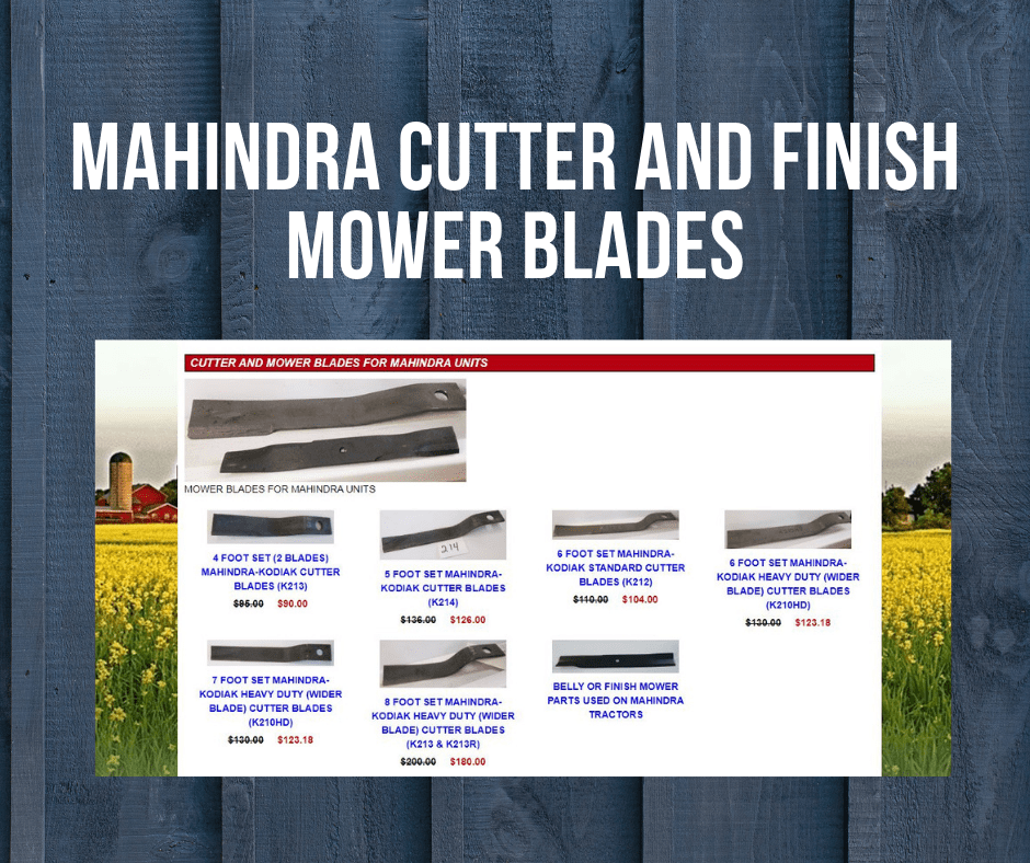 MAHINDRA (KODIAK) CUTTER AND FINISH MOWER BLADES