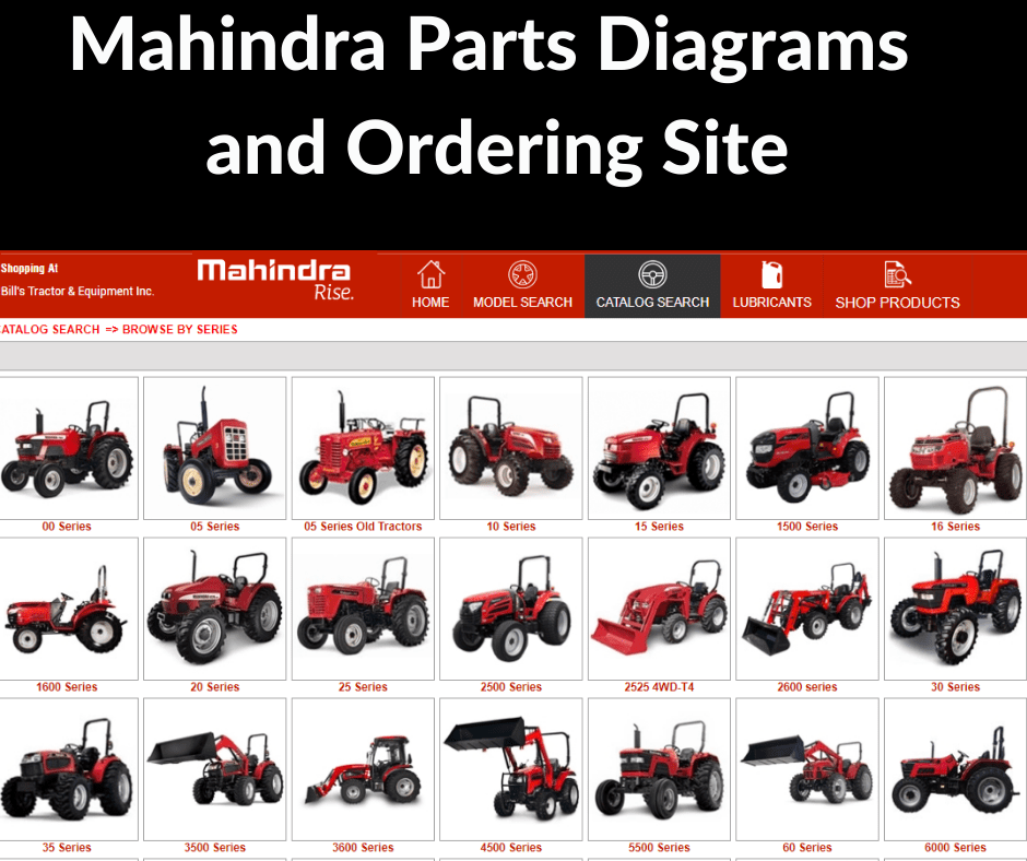 MAHINDRA PARTS DIAGRAMS AND ORDERING SITE