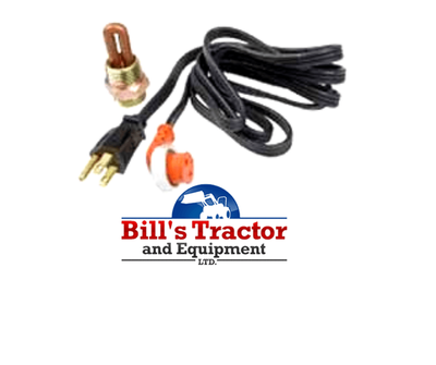 MAHINDRA TRACTOR BLOCK HEATER (FITS MODELS: 1533, 1538, 1635,1640, 2538, 2525, 2540, 2545, 2555, 2565, 2538, 2540, 2638, 2655, 2665, 2638, 2645, 3325, 3505, 3525, 3540, 3550, 4025, 4035, 4500, 4525, 4535, 4540, 4550, 5035, 5500, 5525, 5545, 5530, 5555, 5565, 5570, 6000, 6025, 6500, 6525, 7010, E350, MP75, C27, C35, 3535, 4530, 5520, 6030, 6520, 6530, 7520, 7060, and 8560.