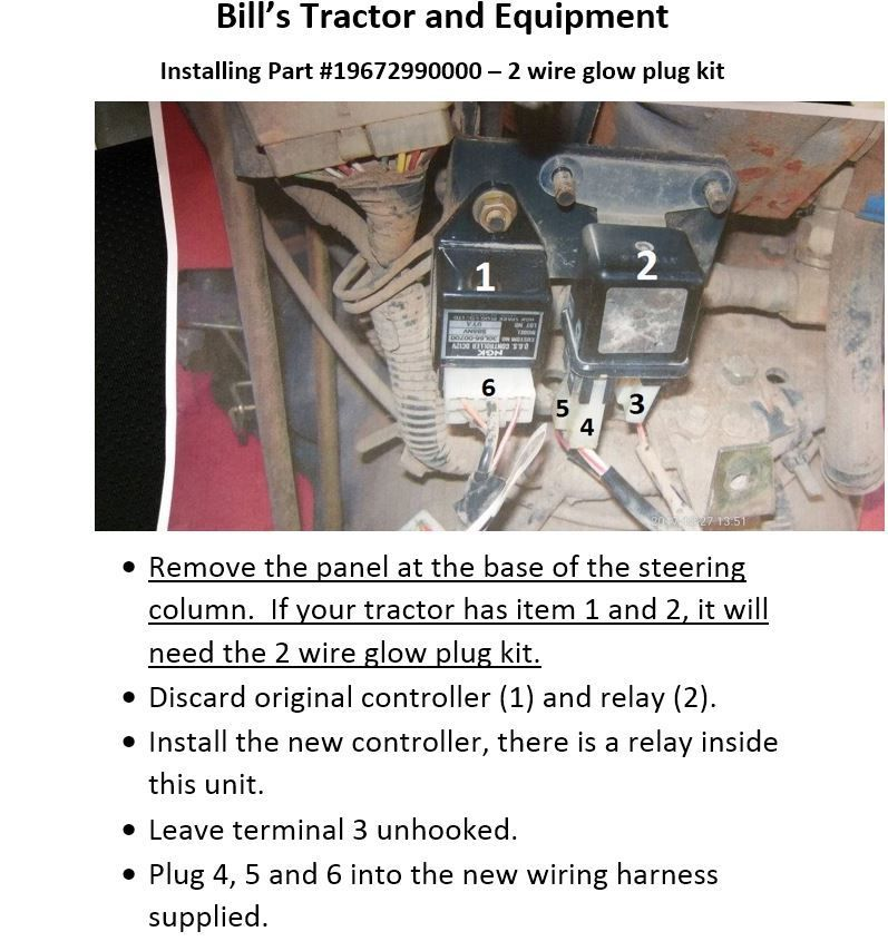INSTRUCTIONS FOR DUAL HARNESS GLOW PLUG CONV. KIT 2615