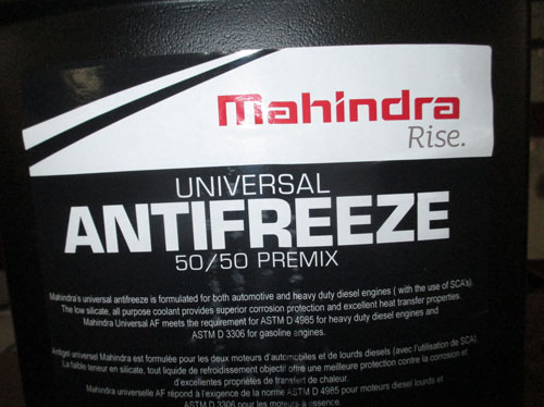"ONE GALLON ANTI-FREEZE ""ALL SEASON"" 50/50 MIX FOR MAHINDRA TRACTORS (AF50501G4)"
