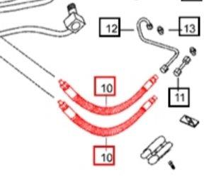 POWER STEERING FLEX LINE FOR mPOWER 85 MAHINDRA TRACTOR (000013777P04)