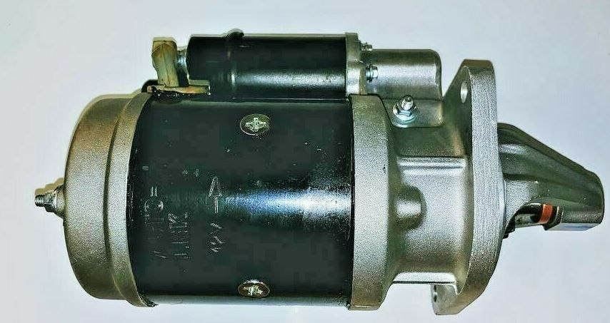NEW STARTER FOR C27, C35,  450, E350, 475, 485, 575, 3325, 3525, 4025, 4525, 5525, 6025, 6525,  4500, 5500, 6000, 6500, 4530, 5530, 6030, 5520, 6520, 7520, 8560, 3550, 5555, 5565, and 7060 MAHINDRA TRACTORS (1233544R91) COMES WITH NEW SOLENOID