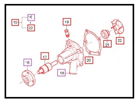 WATER PUMP ASSEMBLY FOR e-MAX 22 MAHINDRA TRACTOR