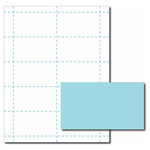 Blue Business Card Paper Stock