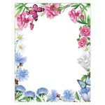 Asters & Oleander Bright Floral Spring Flowers Paper Stock