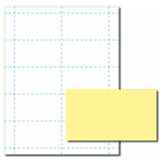 Canary Yellow Business Card Paper Stock