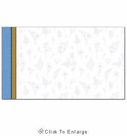 Herbal Blue Business Card Paper Stock