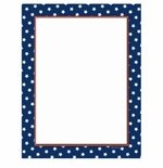 New American Stars Patriotic Border Paper