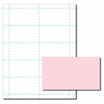 Pink Business Card Paper Stock