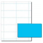 Robin's Egg Blue Business Card Paper Stock