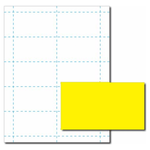 Solar Yellow Business Card Paper Stock
