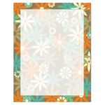 Modern Spring Daisies Floral Flowers Paper Stock
