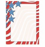 Star Spangled Banner Patriotic American Flag Border Paper