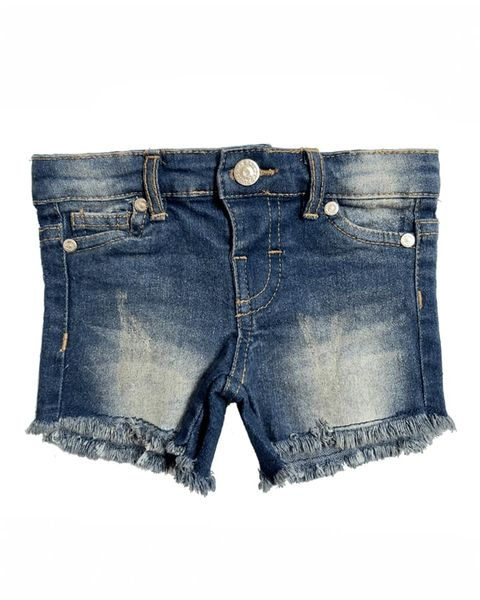 Bailey's Blossoms | Dark Vintage Wash Distressed Shorts