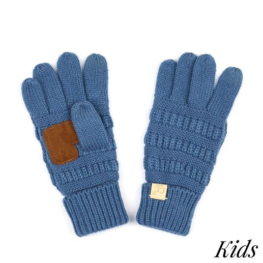 CC: Denim Kids Knit Gloves