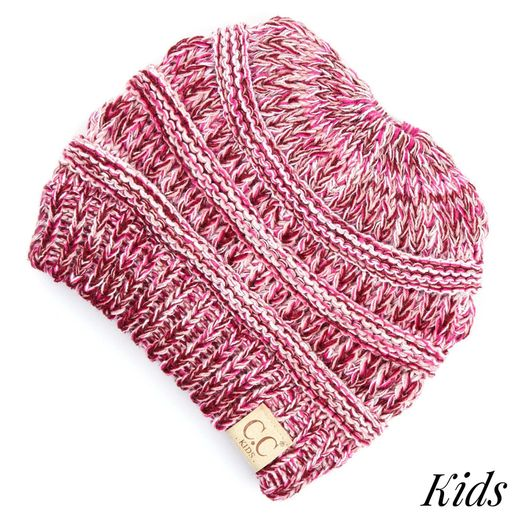 CC: Kids Pony Beanie - Multi Pink