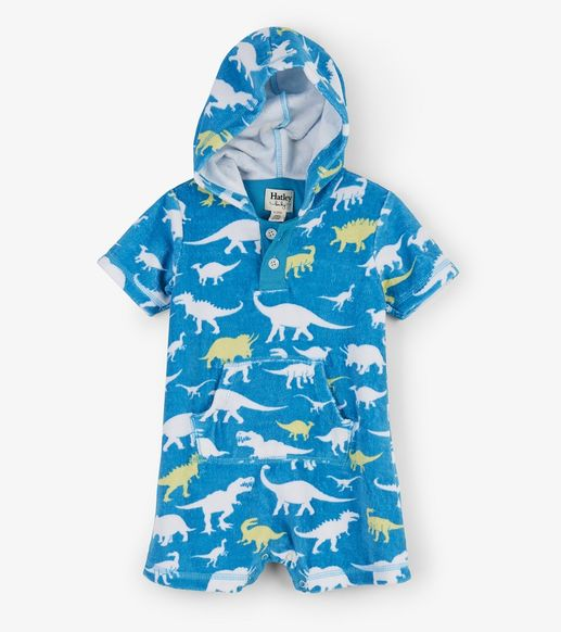 Hatley | Dino Hooded Terry Romper