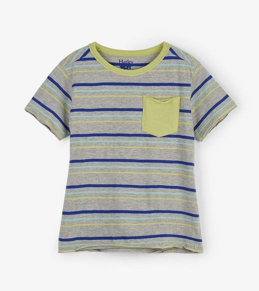 Hatley | Lime & Blue Stripes Tee