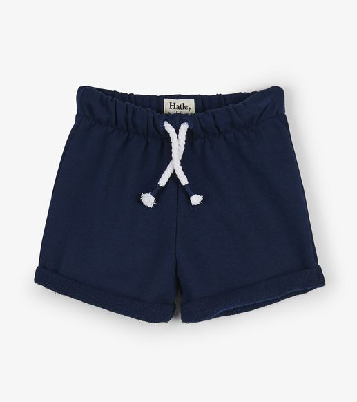 Hatley | Navy French Terry Shorts | Baby